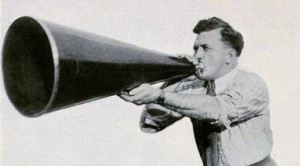 Man with Megaphone (creative commons)